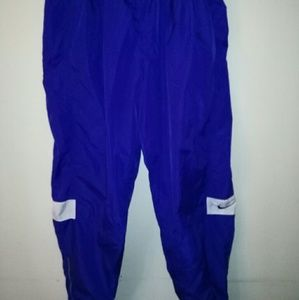 Nike Vintage Men sweatpants w swoosh zip legs XL